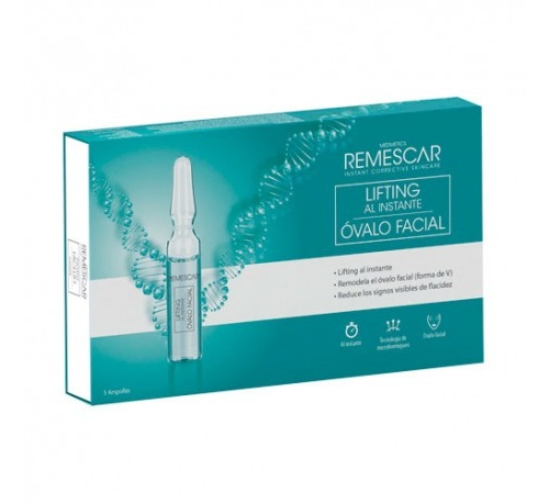Remescar ampollas lifting al instante ovalo facial (5 ampollas)
