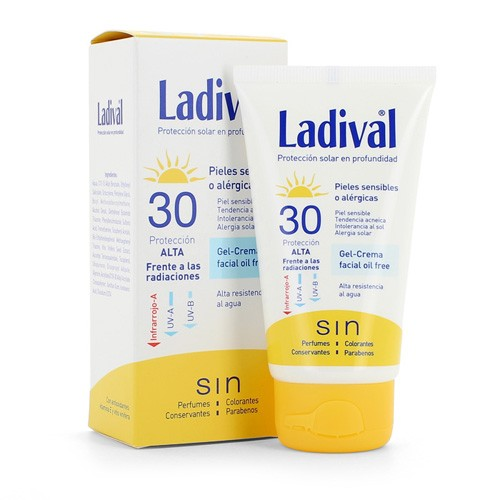 Ladival piel sensible o alergica fps 30 alta - fotoproteccion facial gel crema (75 ml)