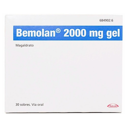 BEMOLAN 2000 mg GEL ORAL , 30 sobres
